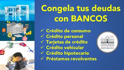 Congela tus deudas con BANCOS creditos tarjetas vehicular hipotecario
