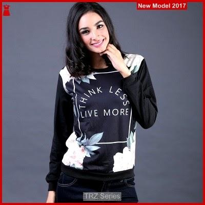 TRZ06 Sweater Hitam Wanita Live FIZ Murah