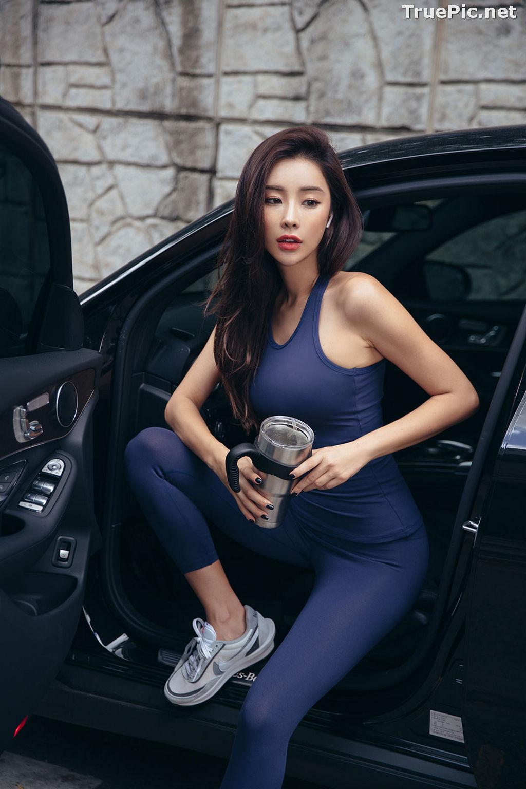 Image Korean Fashion Model - Park Da Hyun - Navy Sportswear - TruePic.net - Picture-13