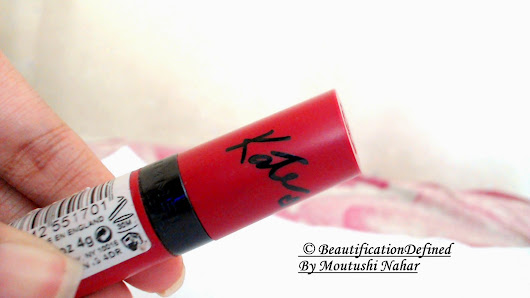 Review & Swatches: Rimmel Kate Moss Lasting finish Lipstick 101
