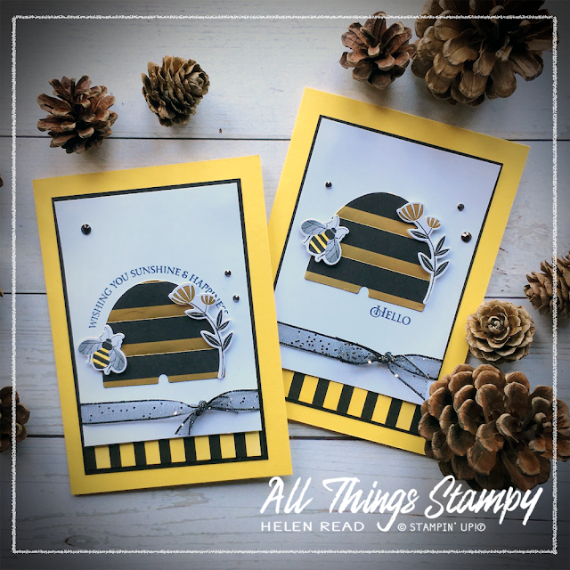 Honey Bee Stampin' Up! AllThingsStampy Helen Read Golden Honey DSP