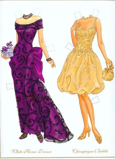 Бумажные куклы модели с одеждой