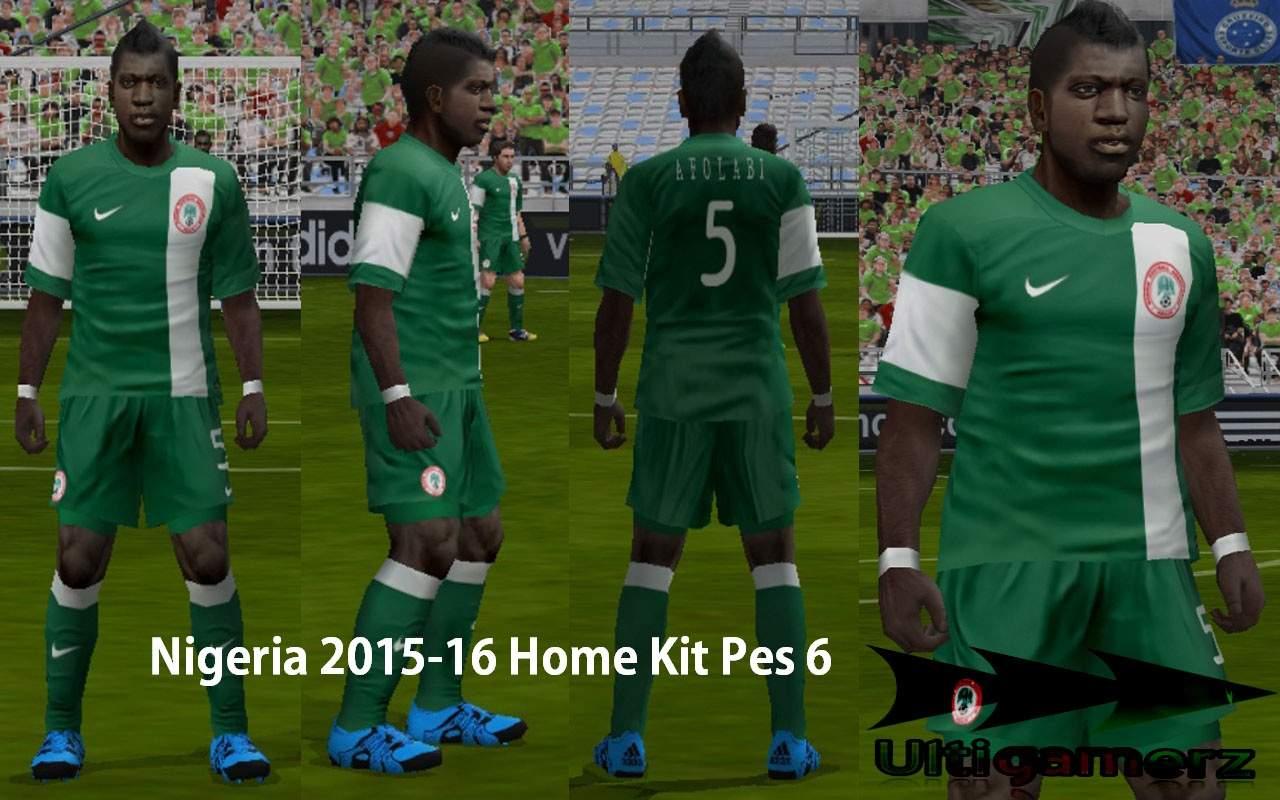ultigamerz: NIGERIA 2015-16 HOME KIT PES 6