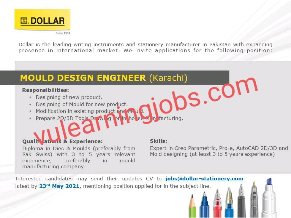 Dollar Industries (PVT) Limited Jobs in Pakistan May 2021 Latest | Apply Now