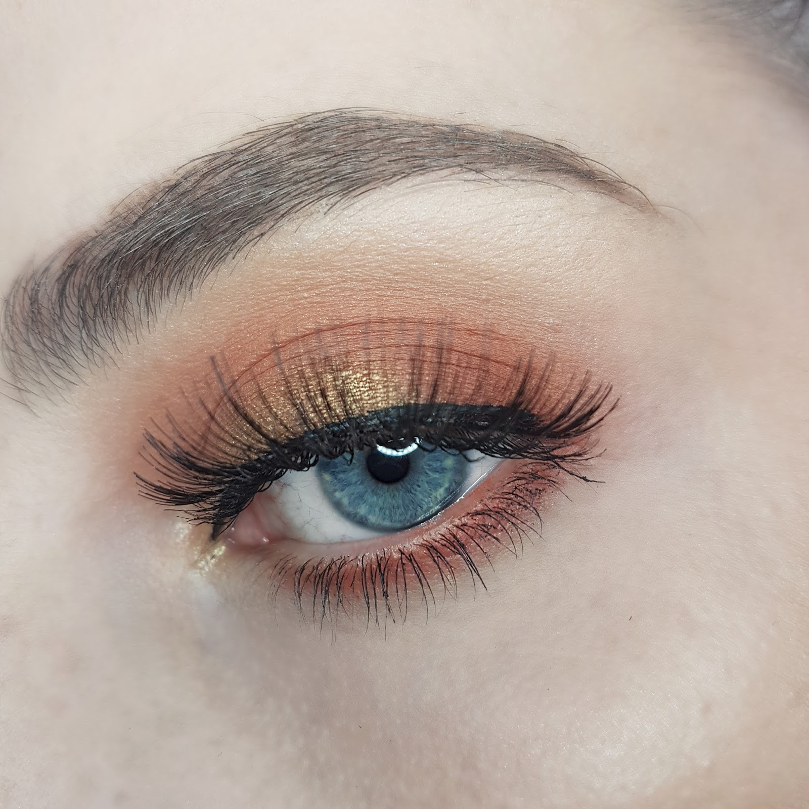 Eye Make Up Using Primark Peach Eyeshadow Palette