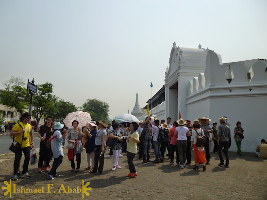 Asian tourists to the Grand Palace, Bangkok