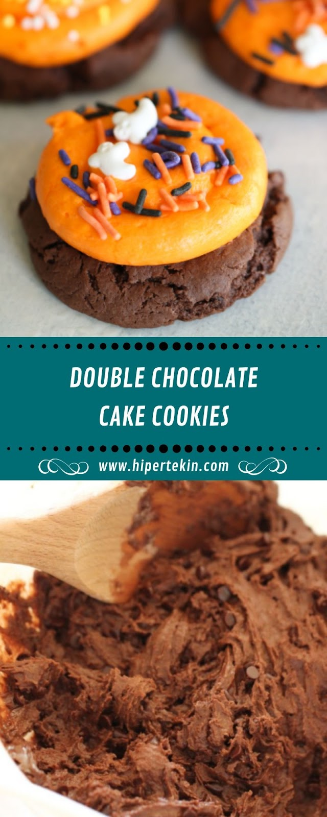 DOUBLE CHOCOLATE CAKE COOKIES