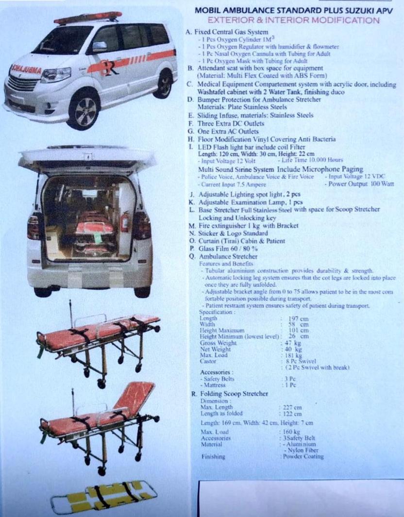 Mobil Ambulance Suzuki APV Bali