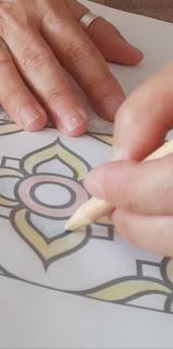pintura de azulejos em papel