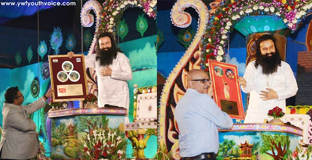 Platinum Plaques by IFPI and Sony DADC to Gurmeet Ram Rahim, International Federation of the Phonographic Industry, Sony DADC International, Dr. MSG, Rockstar Baba, Rockstar Saint, Gurmeet Ram Rahim, Saint Dr. Gurmeet Ram Rahim Singh Ji Insan