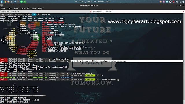 Vulnerebility Linux Scanner Menggunakan Vulners di Terminal