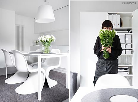 Küchendeko mit Blumen.