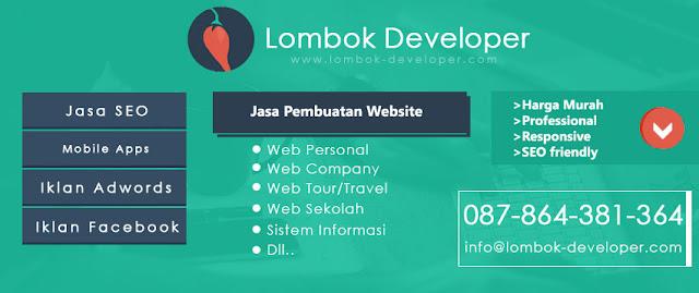jasa pembuatan website lombok mataram NTB