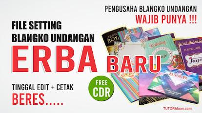 Settingan Blangko Undangan ERBA Baru CDR