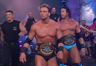 WCW Mayhem 2000 - Shawn Stasiak and Chuck Palumbo (w/ The Natural Born Thrillers) defended the tag team titles against Kevin Nash and DDP