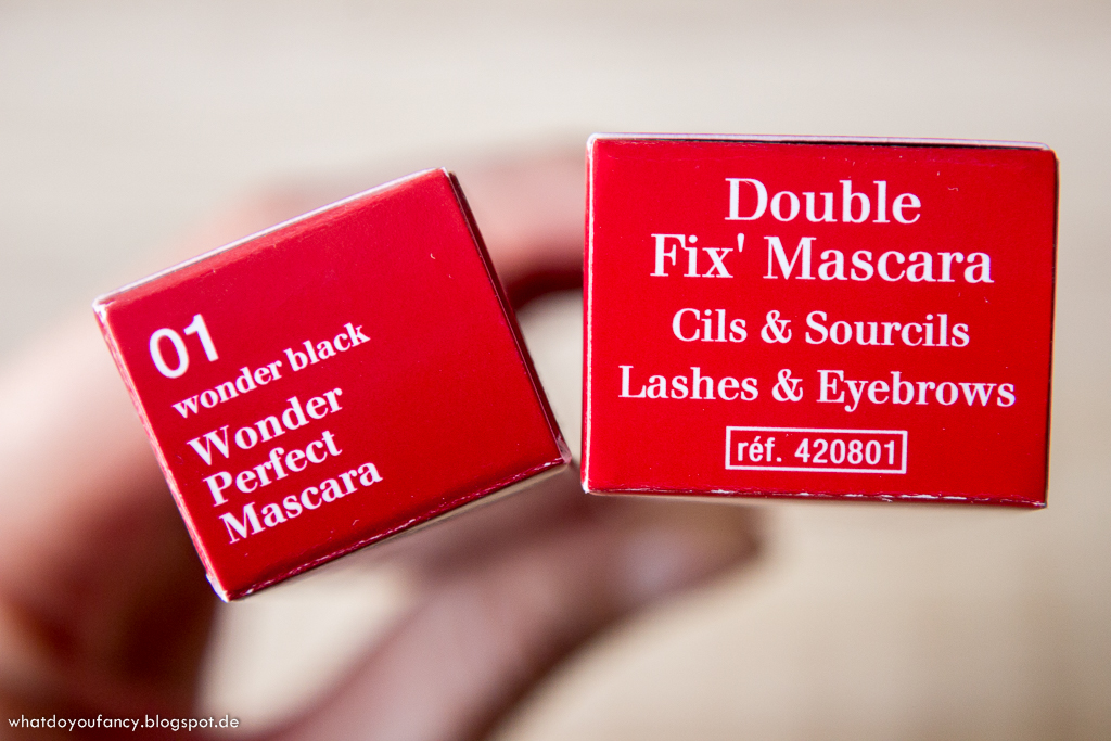 Clarins Wonder Perfect Mascara und Calrins Double Fix Mascara
