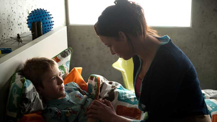 Kiera Cameron and her son Sam in Continuum