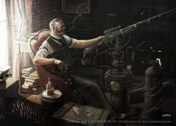 Lamin Martin artstation deviantart arte ilustrações fantasia ficção científica steam punk sombrio