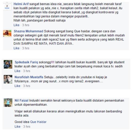 Que Haidar 'Sound' Sikap Pelakon 'Kayu' Yang Acah Cantik Dan Kacak Tapi 'Kosong'