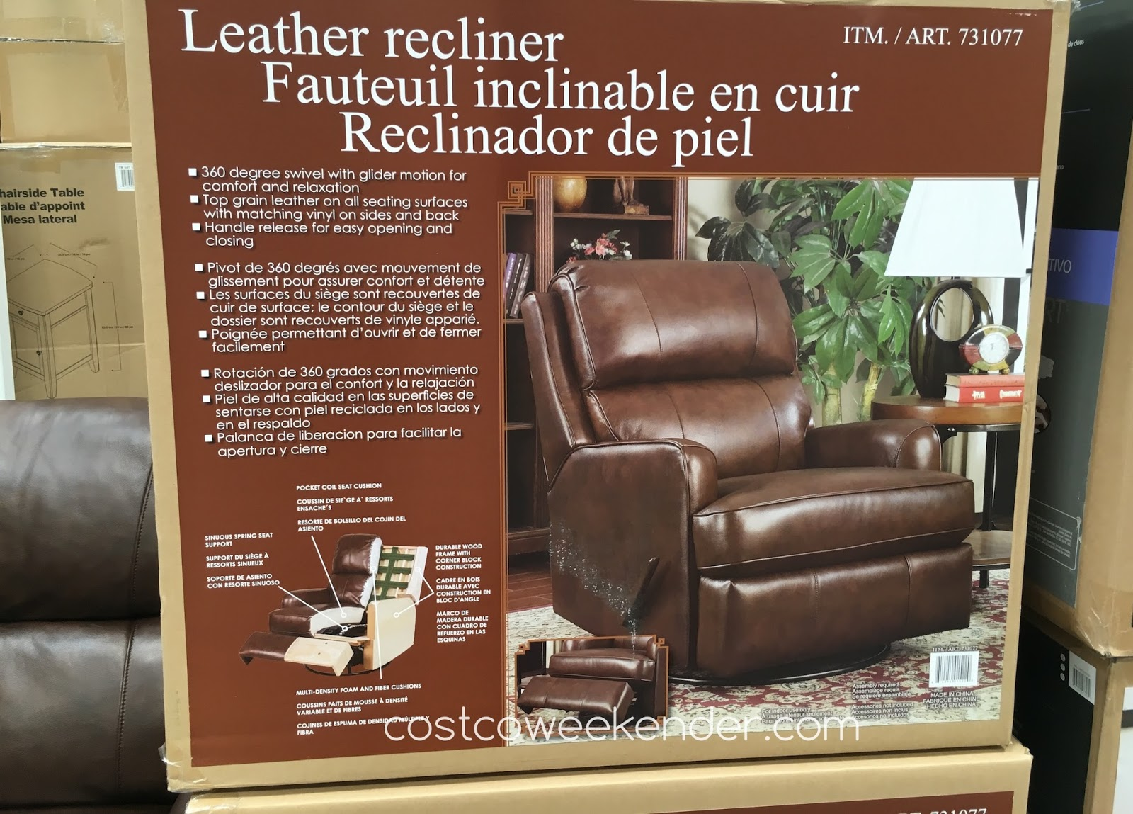 Relaxing in front of the TV is now more comfortable on the Synergy Leather Recliner & Synergy Leather Recliner Chair | Costco Weekender islam-shia.org