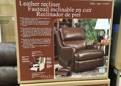 Costco 731077 - Relaxing in front of the TV is now more comfortable on the Synergy Leather Recliner