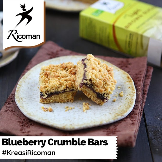 [RESEP] Blueberry Crumble Bars