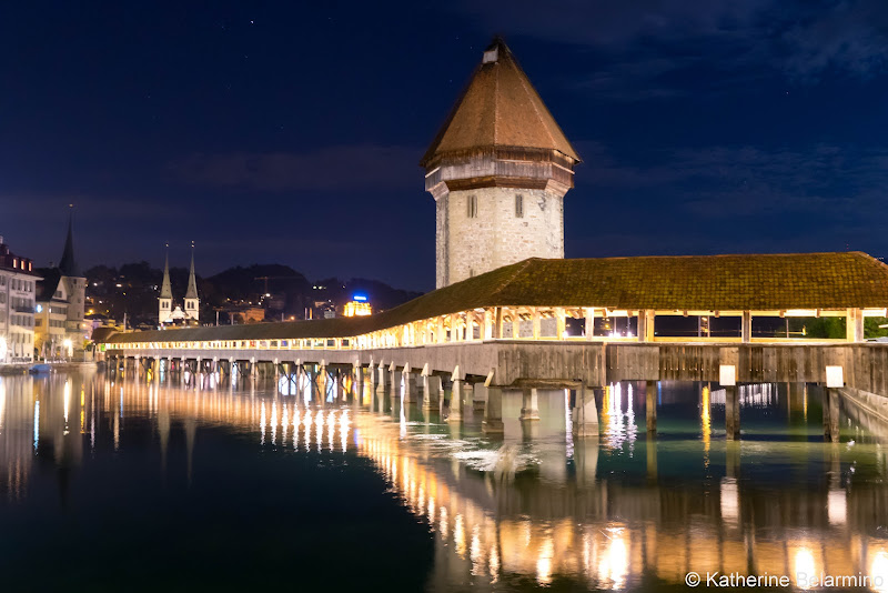 Chapel Bridge at Night Two Days in Lucerne Luzern Switzerland