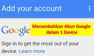 Cara Menambahkan Akun Google gmail