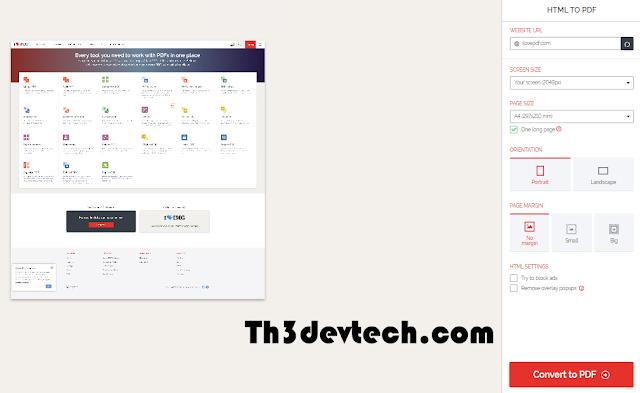 اداة HTML to PDF