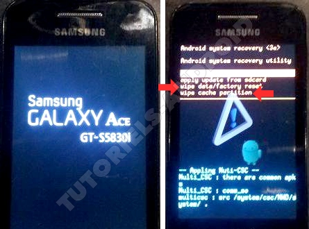 Formater GALAXY Ace via le Recovery