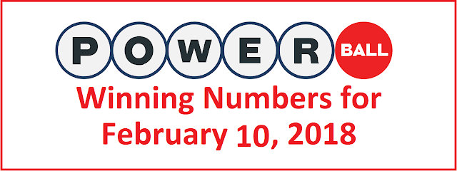 Powerball Winning Numbers for Saturday,10 February 2018