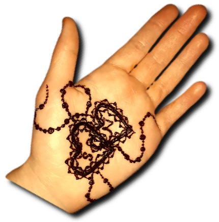Easy Love Mehndi Design front