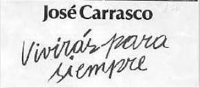 JOSE CARRASCO TAPIA, NO HAY OLVIDO