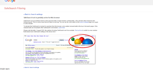 PC: How to enable Safe search in Google