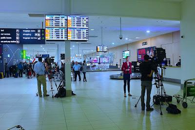 Cameraman and Media Coolangatta Airport