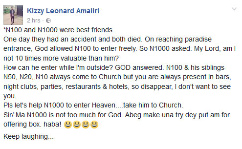 See why you should stop using N20, N50, N100 for church offering