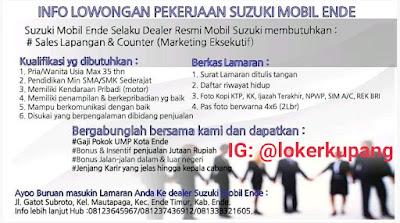 Lowongan Kerja Suzuki Mobil Ende Sebagai Sales Lapangan & Counter (Marketing Executive)