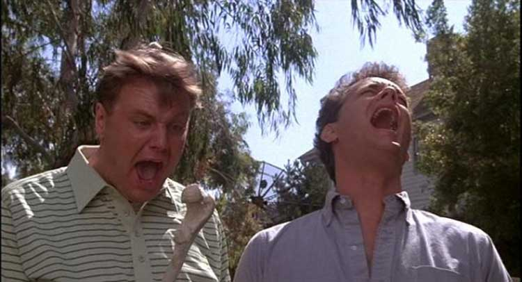 John Candy and Tom Hanks freak out in Joe Dante's The 'Burbs.