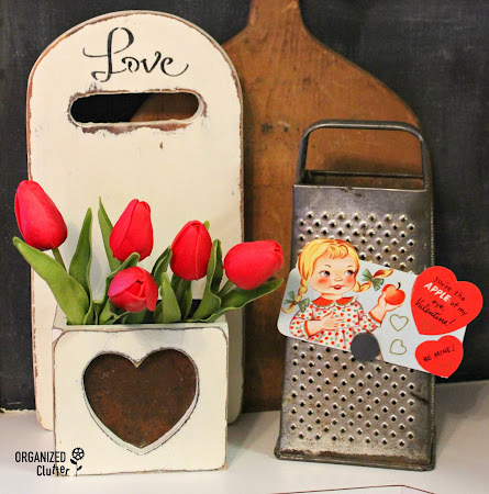 Thrift Shop Cutting Board Valentine's Day Project