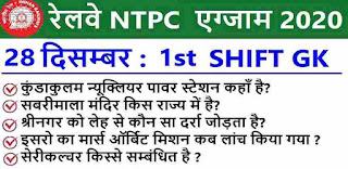 RRB NTPC Exam Analysis 1st Shift for 28 Dec 2020