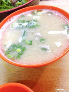 燙青菜、味增湯
