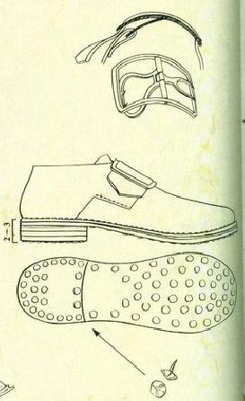 tavole equipaggiamento militari napoleone fibbia da scarpa