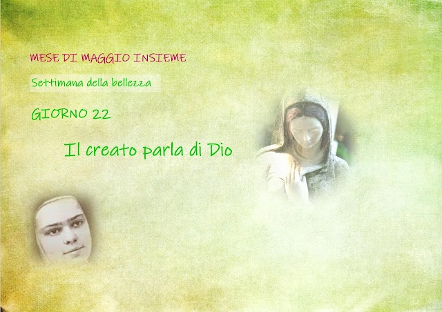 Giorno 22:Il creato che parla di Dio
