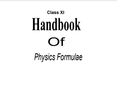 physics formula booklet class 11 class 12 download [pdf