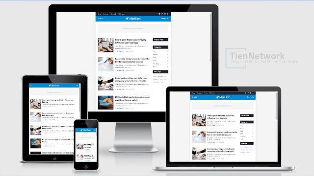 MiniFast Premium - Template Blogspot Responsive, chuẩn SEO, load trang cực nhanh