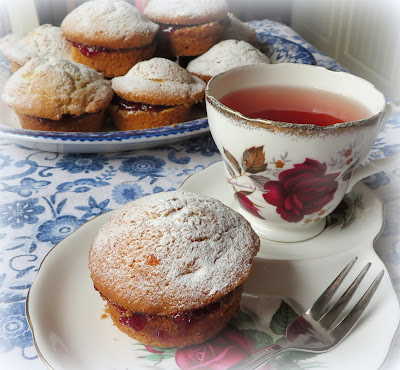 Lemon Cupcakes with Raspberry Jam