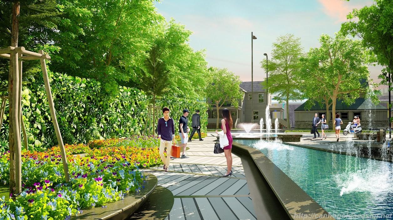 Không gian xanh Louis City Hoàng Mai