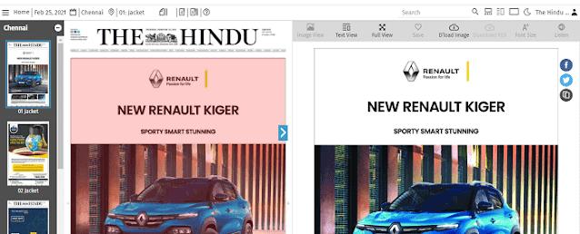 The Hindu Newspaper Pdf Newspaper will Open
