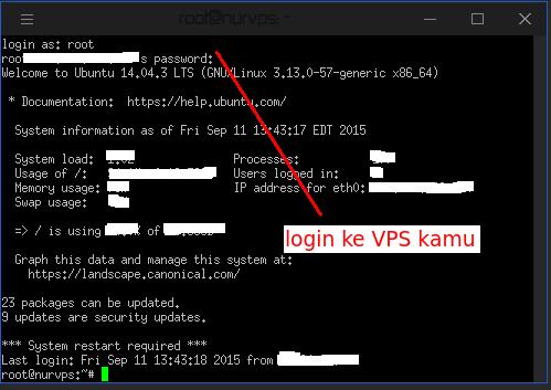Cara membuat user SSH di VPS menggunakan Putty