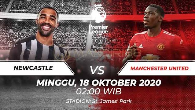 Prediksi Newcastle United Vs Manchester United, Minggu 18 Oktober 2020 Pukul 02.00 WIB @ Mola TV